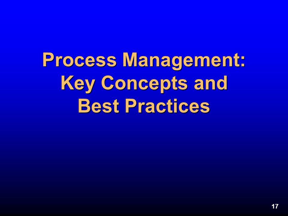 17 Process Management: Key Concepts and Best Practices