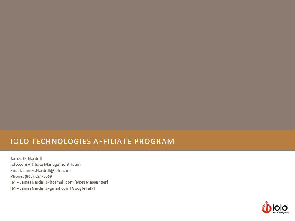IOLO TECHNOLOGIES AFFILIATE PROGRAM James D.