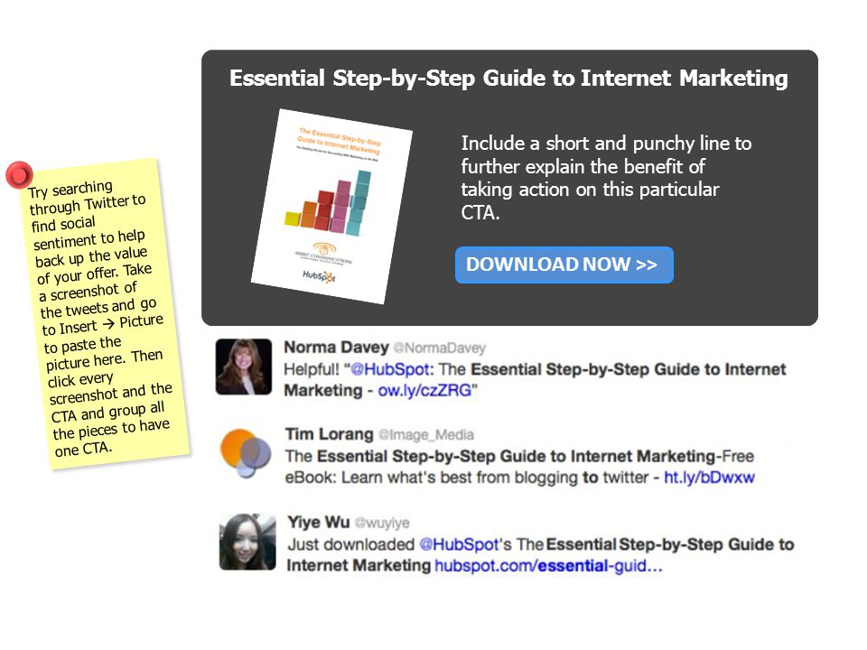 Essential Step-by-Step Guide to Internet Marketing Include a short and punchy line to further explain the benefit of taking action on this particular CTA.