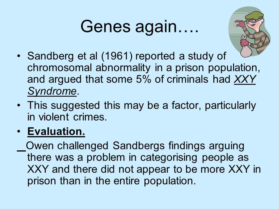 Genes again….