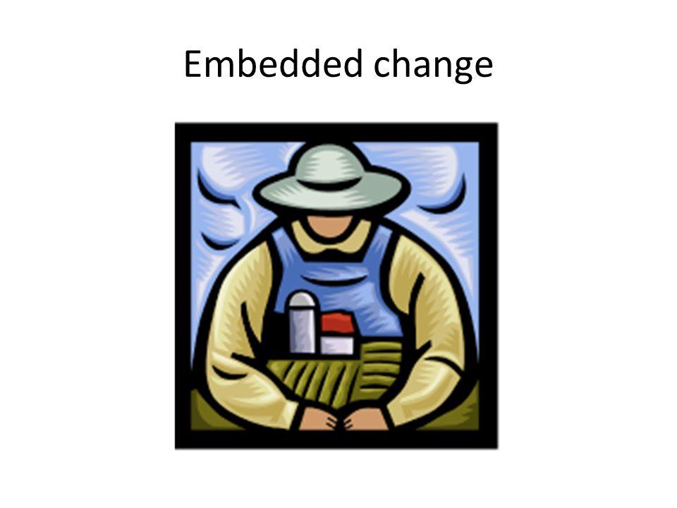 Embedded change