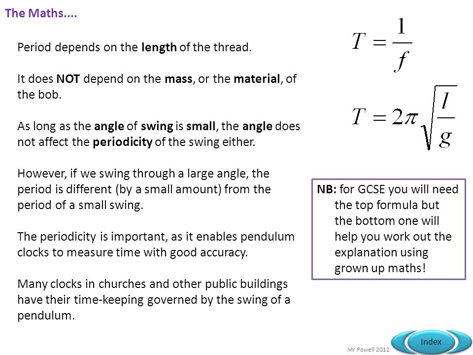 Mr Powell 2012 Index The Maths....Period depends on the length of the thread.