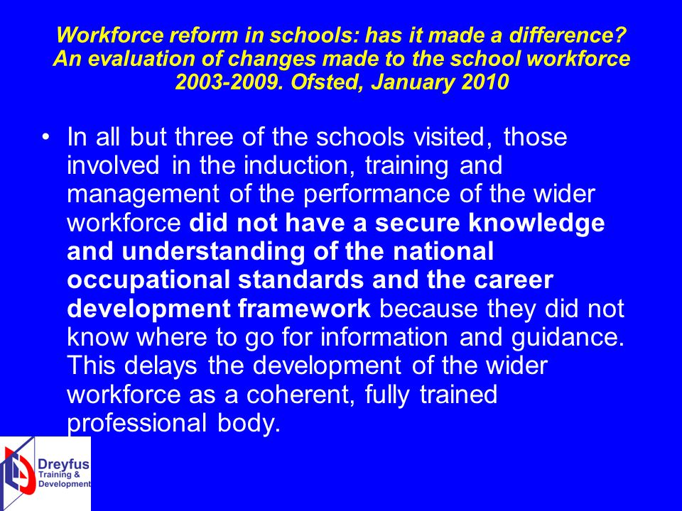 Workforce reform in schools: has it made a difference.