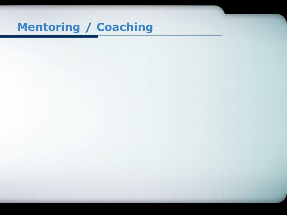 Mentoring / Coaching