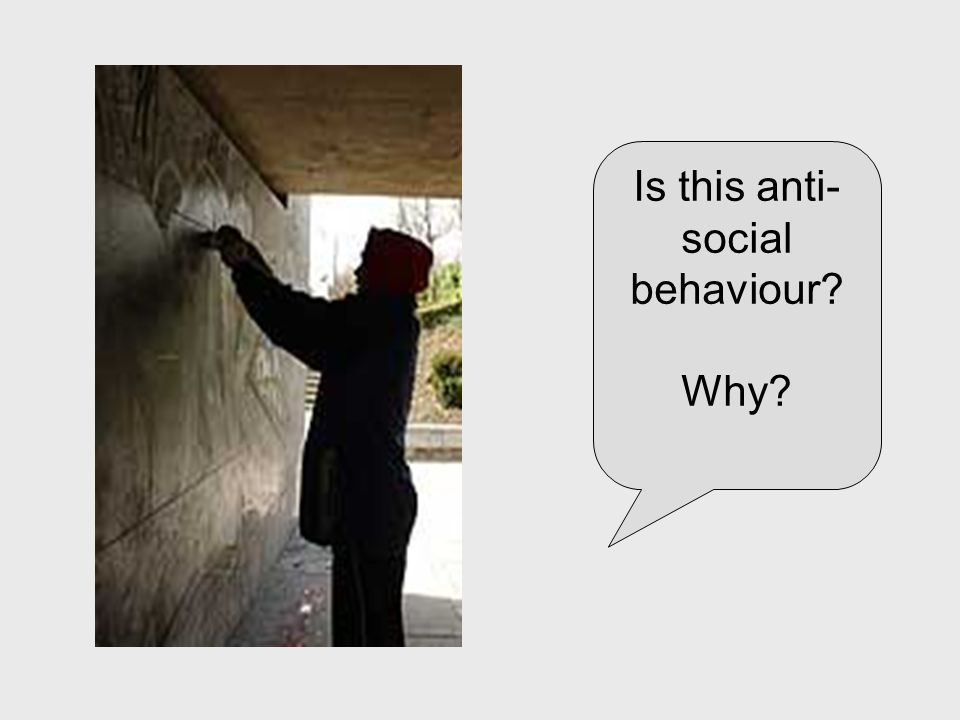 Is this anti- social behaviour? Why?