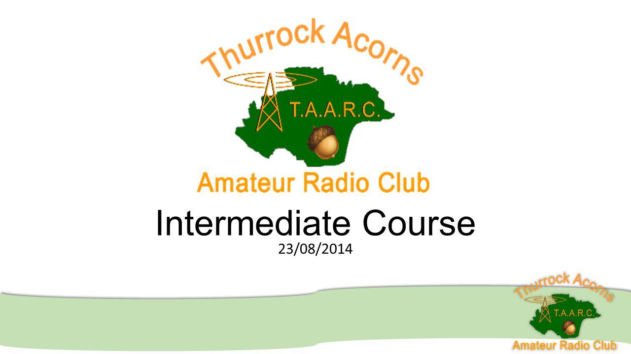 Intermediate Course 23/08/2014