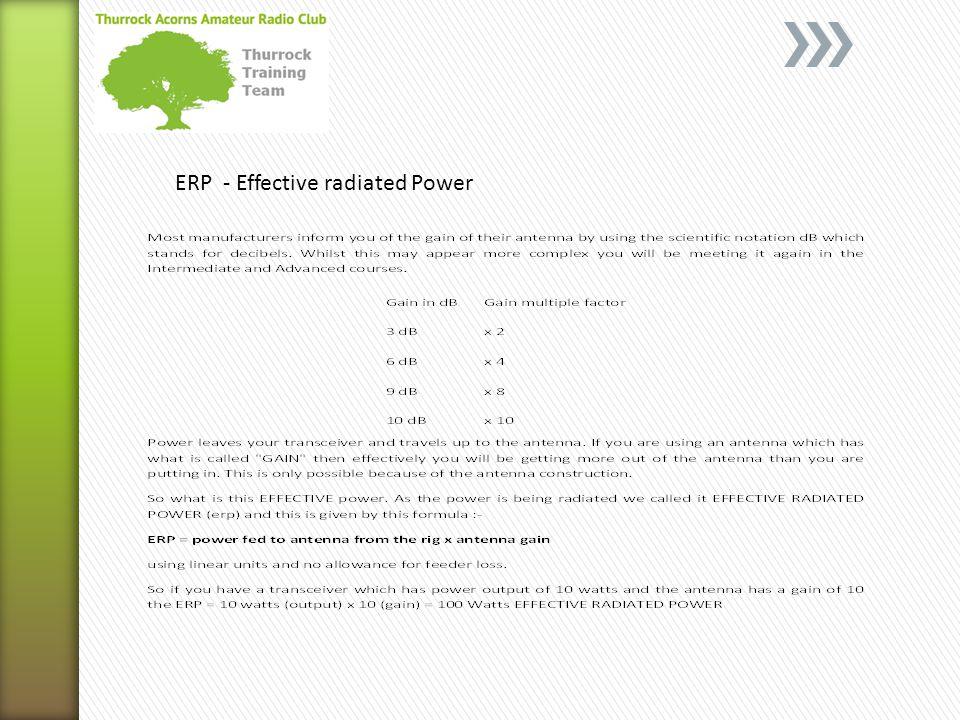 ERP - Effective radiated Power