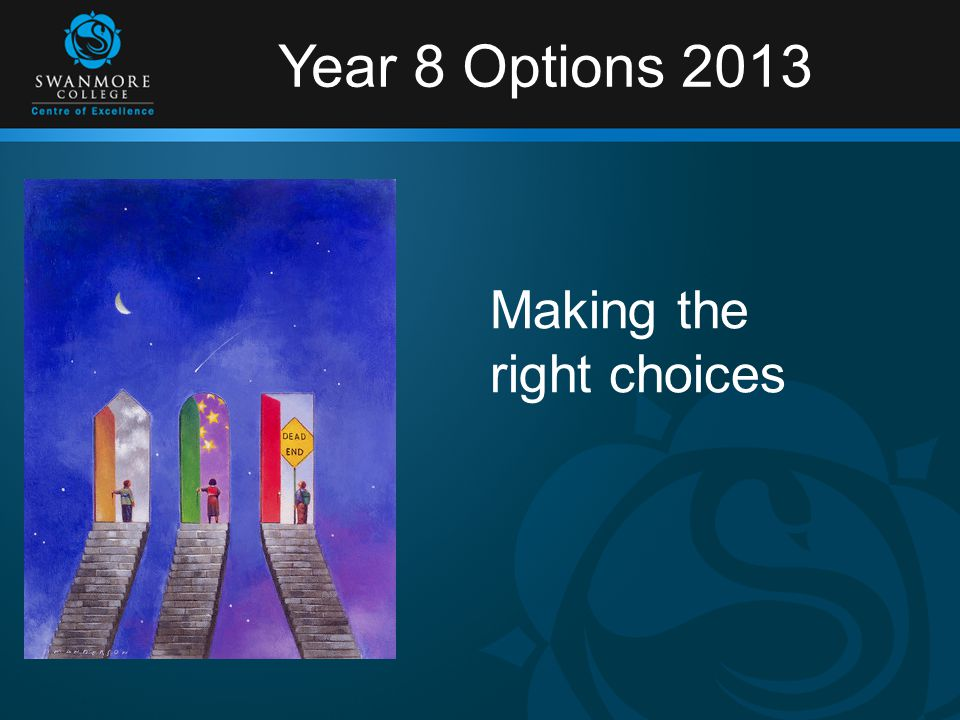 Year 8 Options 2013 Making the right choices
