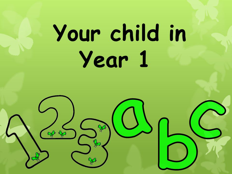 Your child in Year 1