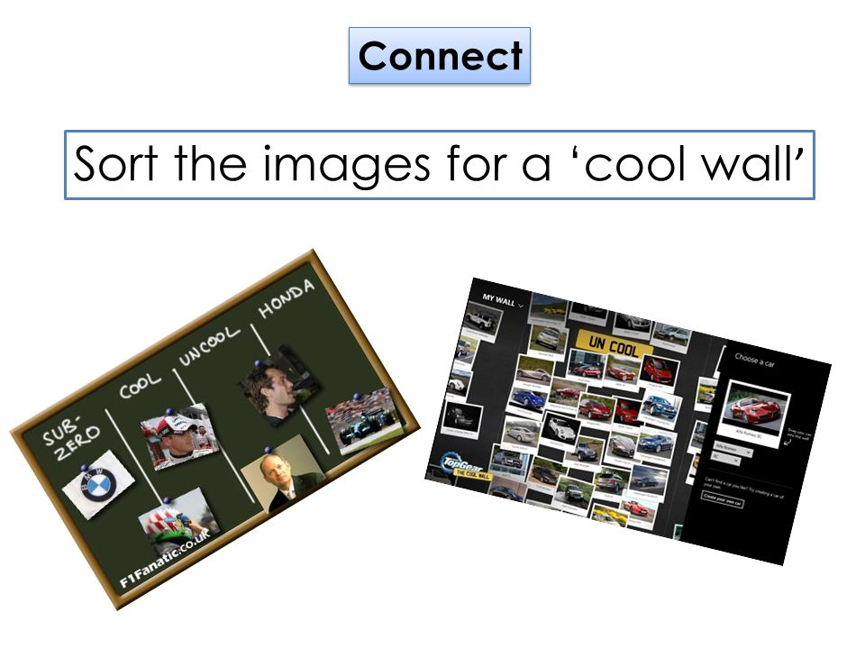 Sharing new information In pairs: Chose a product from the images on your table.