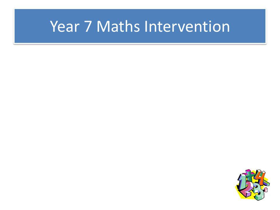 Year 7 Maths Intervention