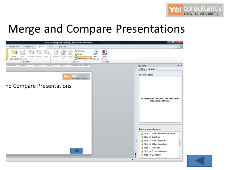 Merge and Compare Presentations
