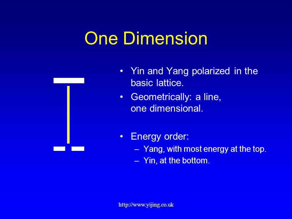 http://www.yijing.co.uk One Dimension Yin and Yang polarized in the basic lattice.