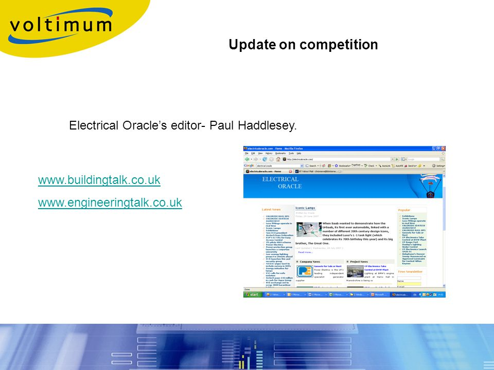 Electrical Oracle's editor- Paul Haddlesey.