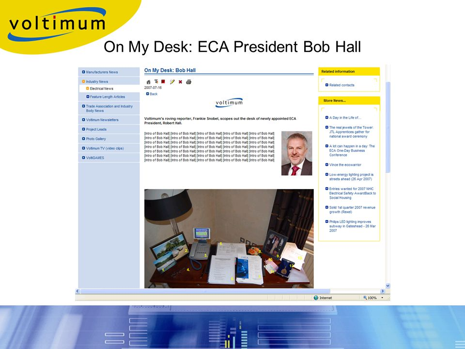 On My Desk: ECA President Bob Hall