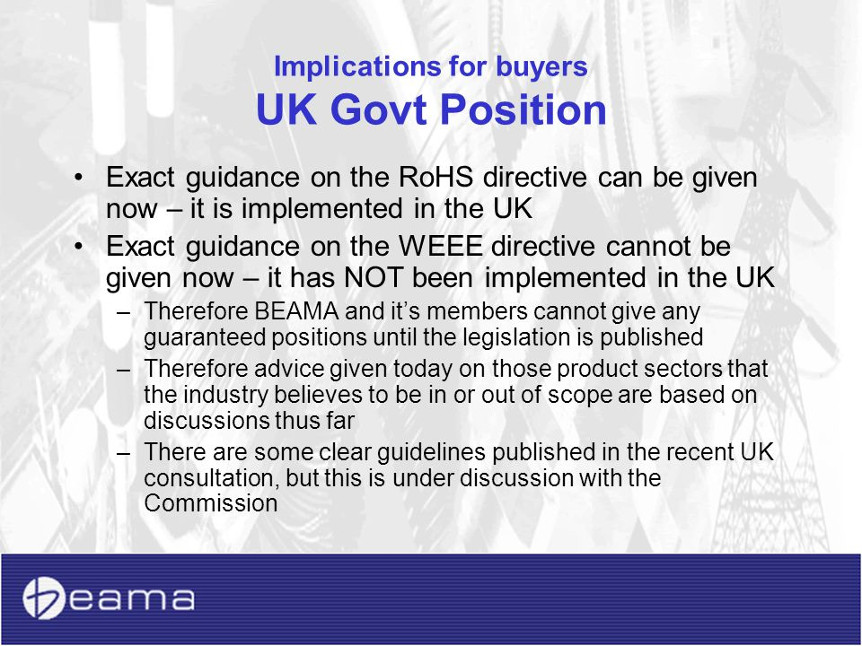 Implications for buyers However….