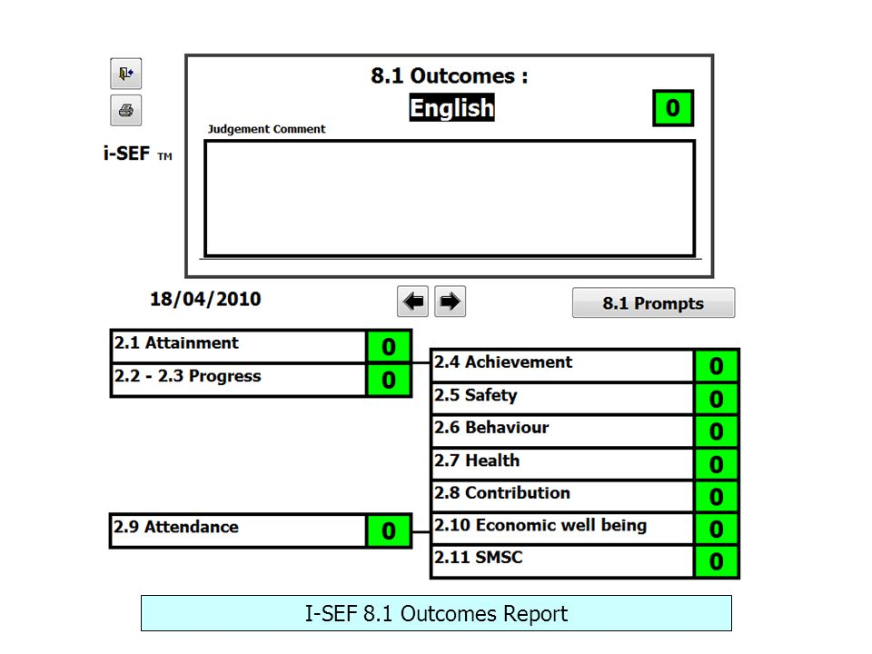 I-SEF 8.1 Outcomes Report