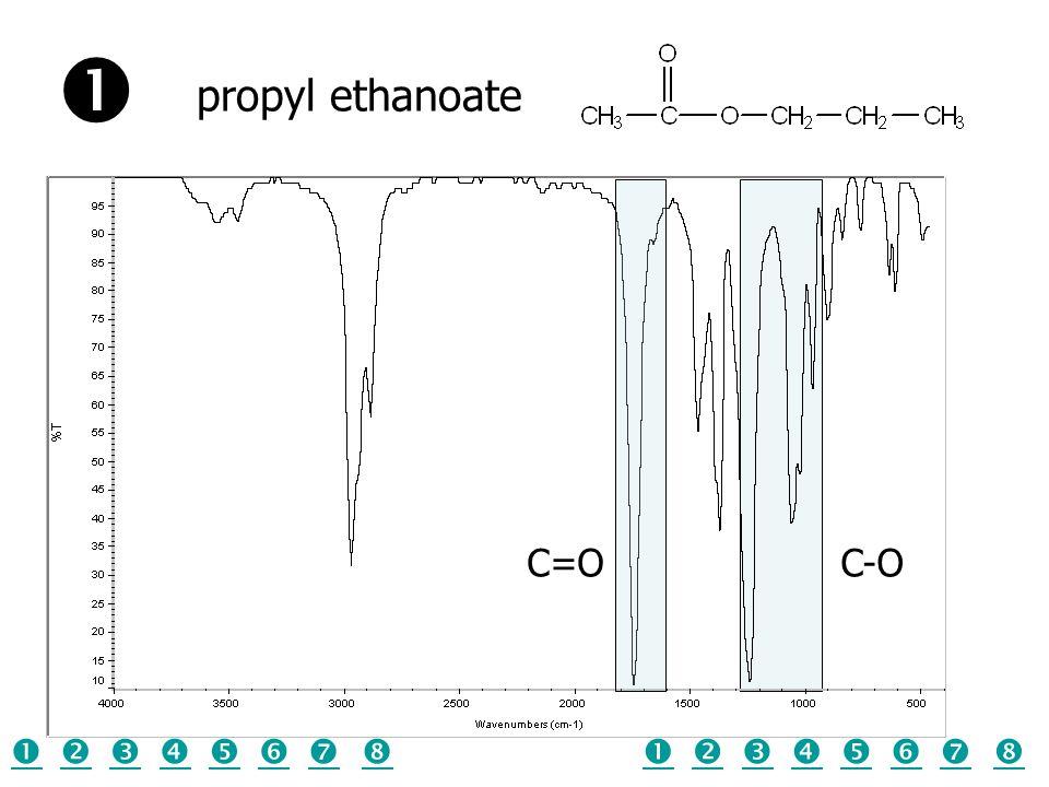 C-OC=O propyl ethanoate  