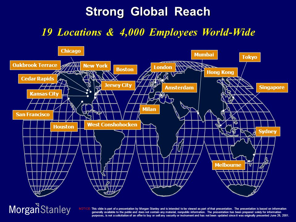19 Locations & 4,000 Employees World-Wide West Conshohocken Chicago New York London Tokyo Mumbai Singapore Hong Kong Sydney Melbourne Amsterdam Milan