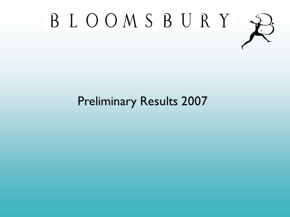 Preliminary Results 2007