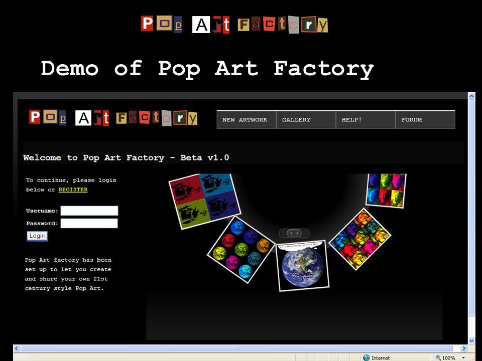 Demo of Pop Art Factory