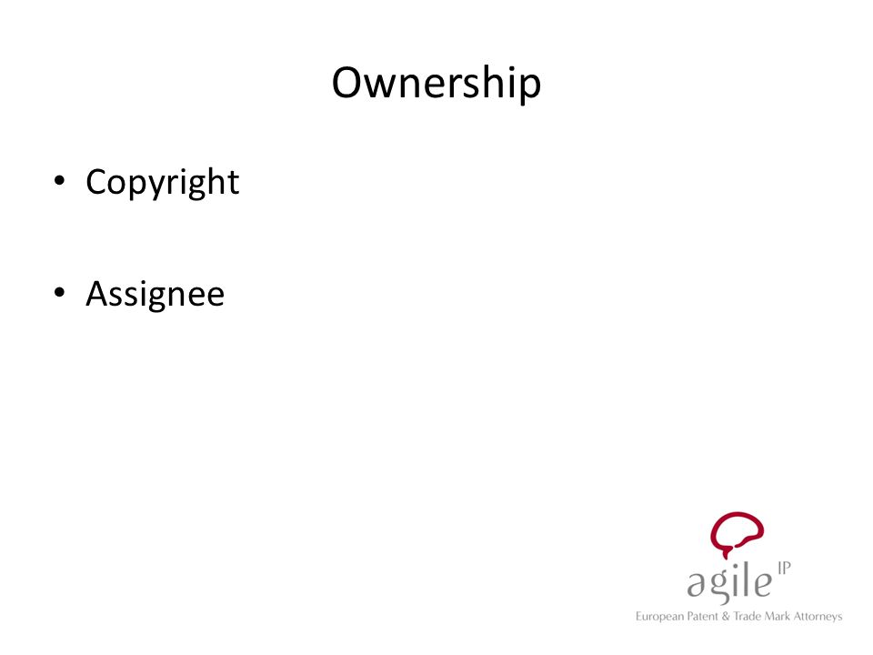 Ownership Copyright Assignee