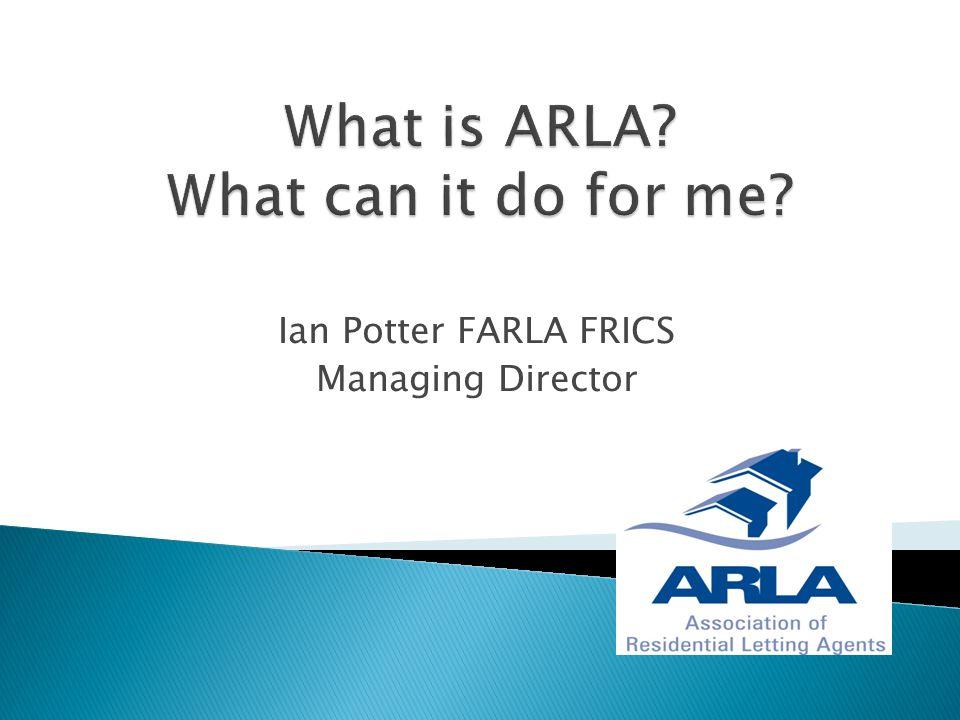 Ian Potter FARLA FRICS Managing Director