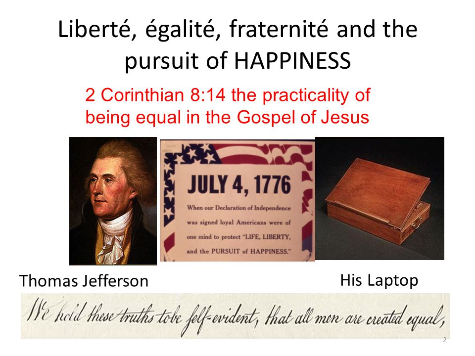 The BIBLE paints a different picture Real HAPPINESS is not SELF CENTRED.