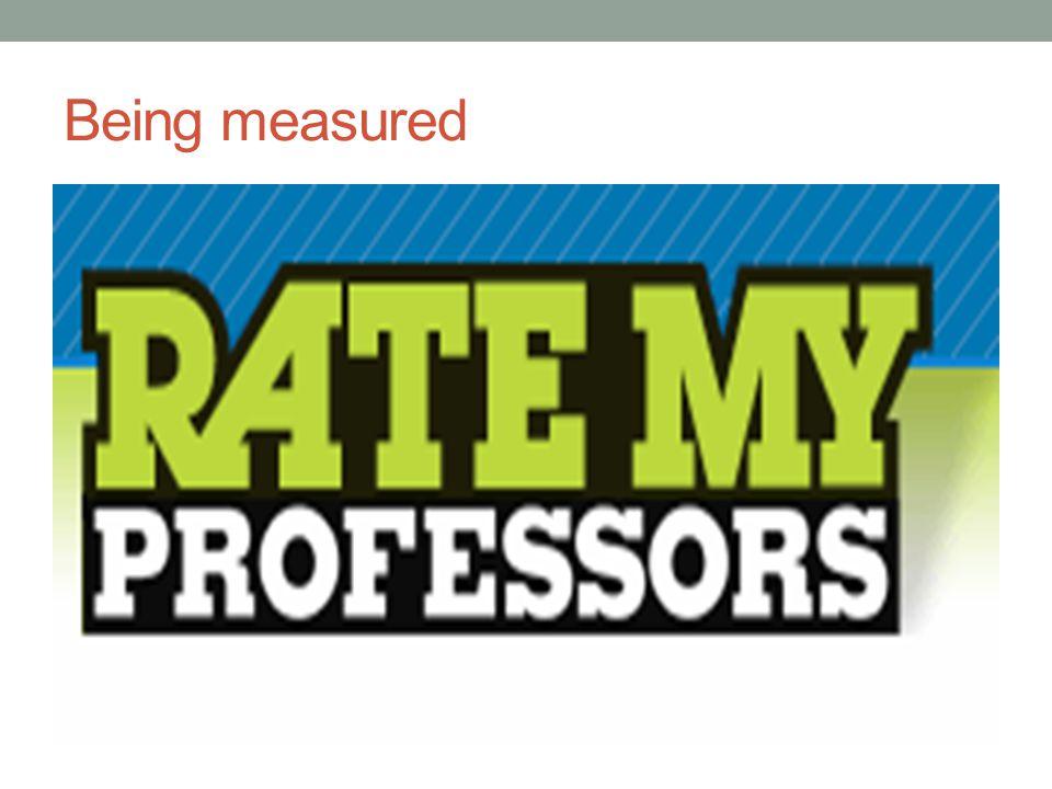 Being measured