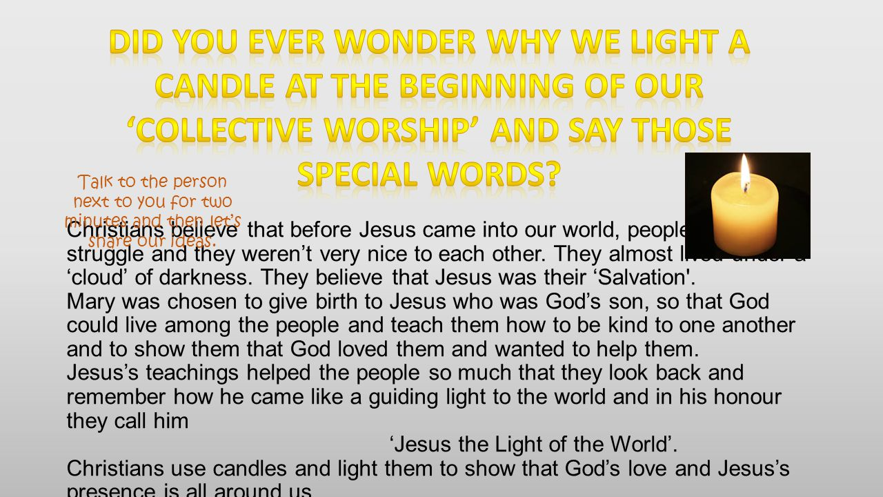 Lights have meanings in different faiths. Can you name any of these lights?