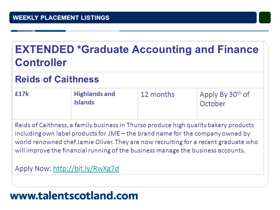 NEW* Graduate Offshore Renewables Highlands and Islands Enterprise £15,702Inverness, Highlands and Islands 12 monthsApply by 4 th November Highlands and Islands Enterprise (HIE) are recruiting for a graduate placement to assist with the development an offshore renewables supply chain programme.
