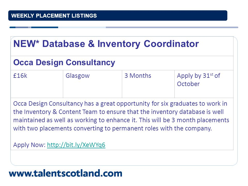 Graduate Software Developer Attacat £18-24kEdinburgh12 MonthApply by 28 th of October Exciting opportunity for a graduate with a genuine coding mindset to get involved with the nitty-gritty of online marketing.
