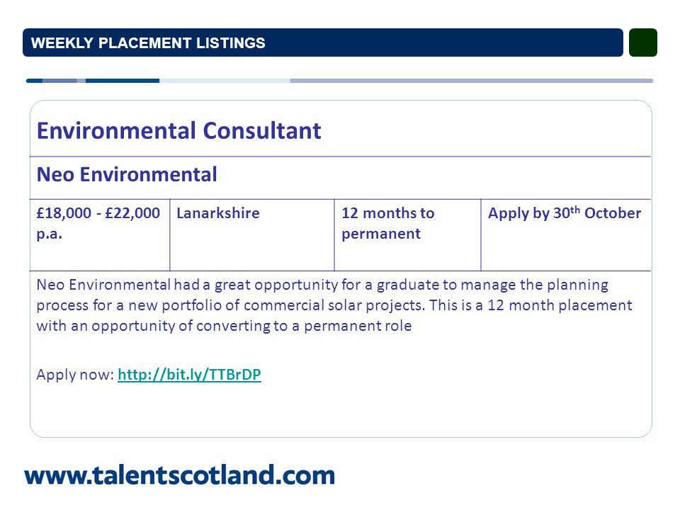 Environmental Consultant Neo Environmental £18,000 - £22,000 p.a.