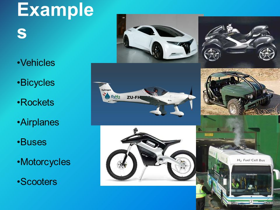 Hydrogen Automobile An alternative fuel vehicle which uses hydrogen as its fuel.