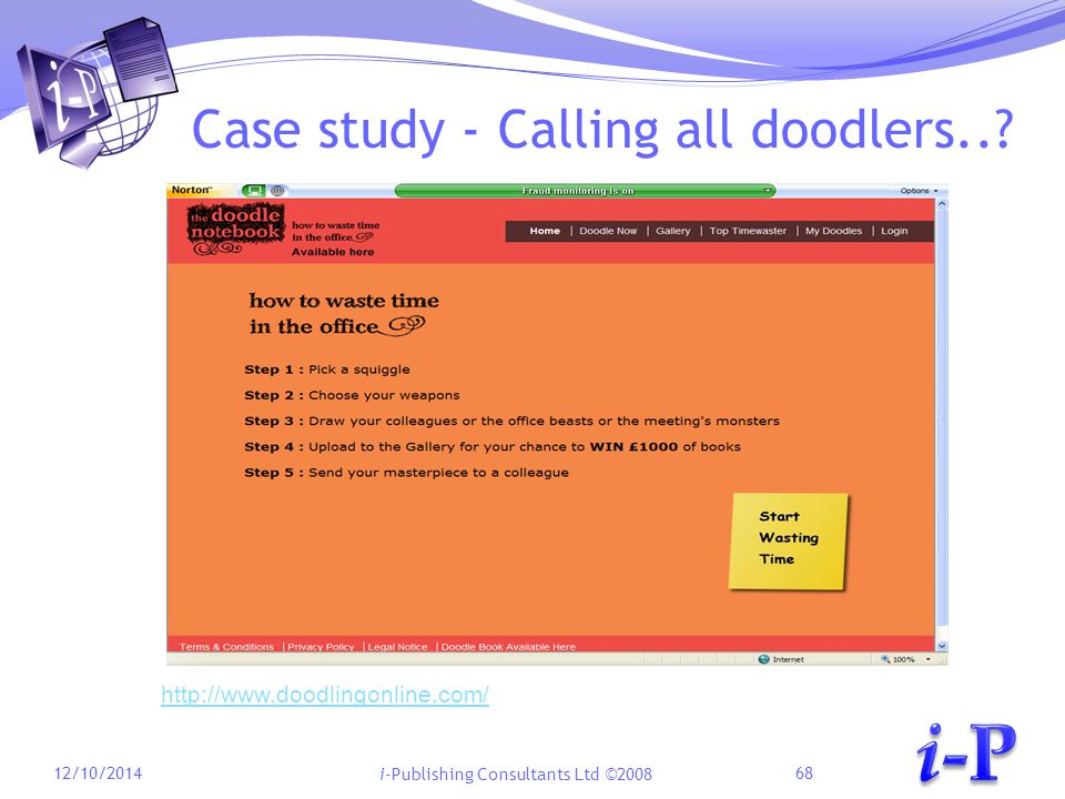 i-Publishing Consultants Ltd ©2008 Case study - Calling all doodlers...