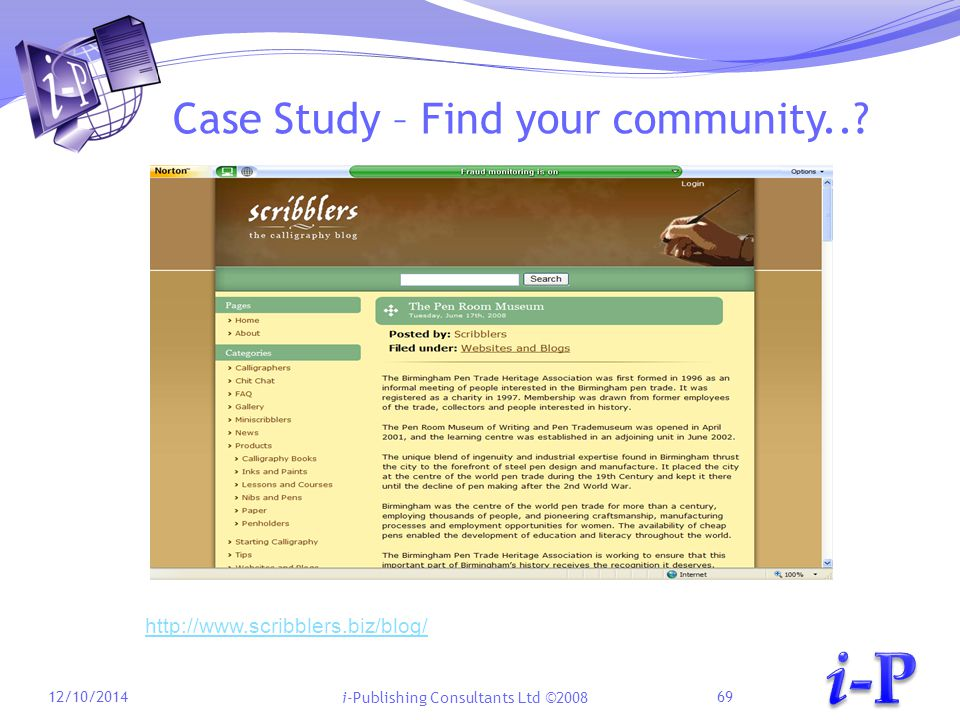 i-Publishing Consultants Ltd ©2008 Case Study – Find your community...