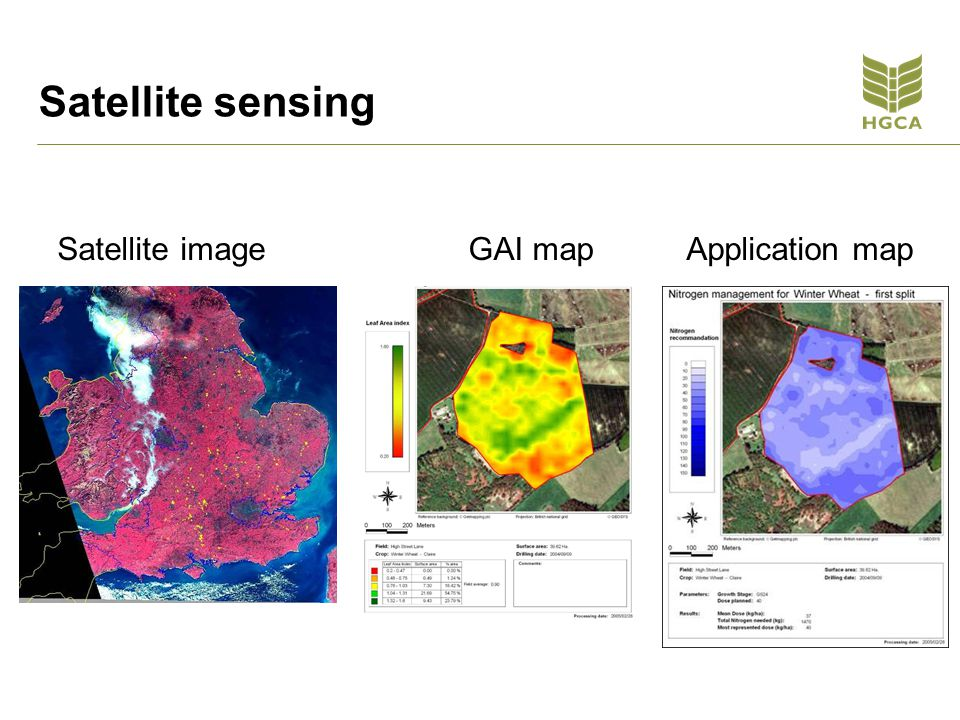 Satellite sensing Satellite imageGAI mapApplication map