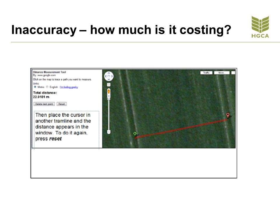 Inaccuracy – how much is it costing