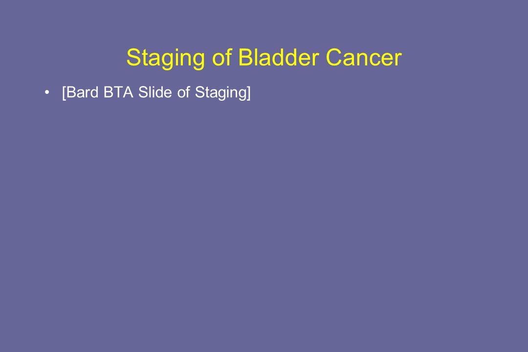 Staging of Bladder Cancer [Bard BTA Slide of Staging]