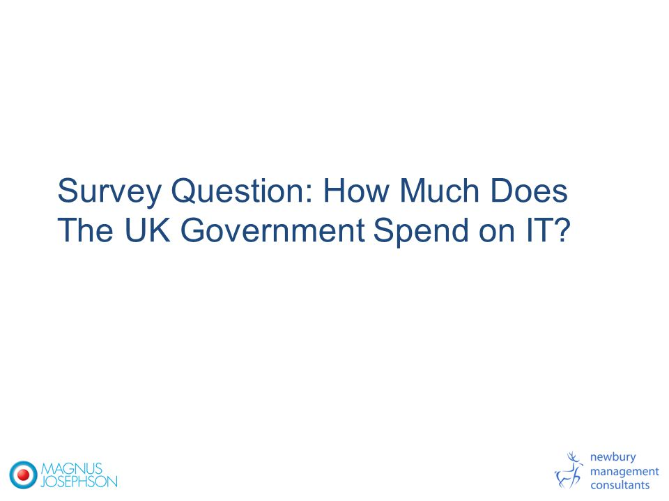 Survey Question: How Much Does The UK Government Spend on IT