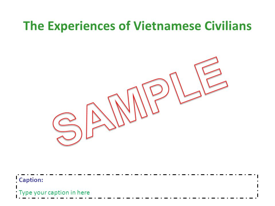 The Experiences of Vietnamese Civilians Caption: Type your caption in here