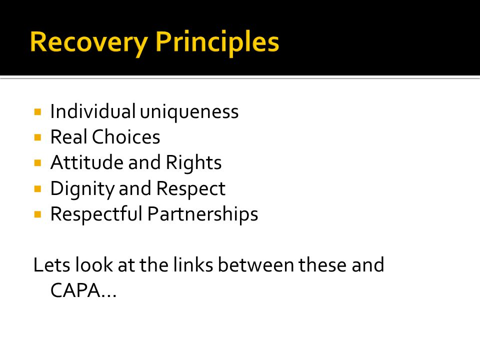  Individual uniqueness  Real Choices  Attitude and Rights  Dignity and Respect  Respectful Partnerships Lets look at the links between these and