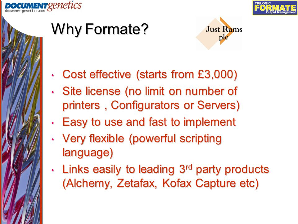 Output Management Why Formate.