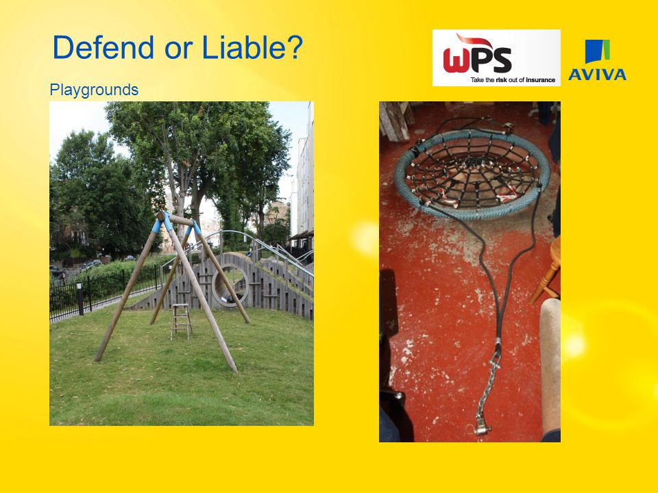 Defend or Liable? Playgrounds
