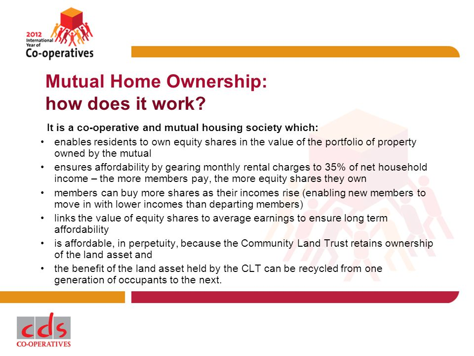 Mutual Home Ownership: how does it work.