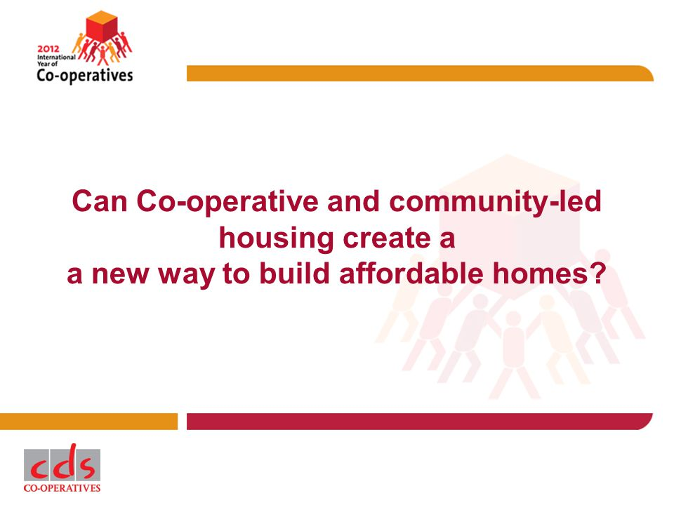 Can Co-operative and community-led housing create a a new way to build affordable homes