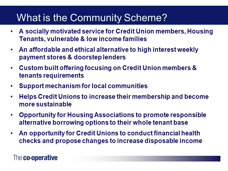 What is the Community Scheme.