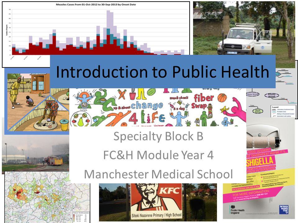 Specialty Block B FC&H Module Year 4 Manchester Medical School Introduction to Public Health