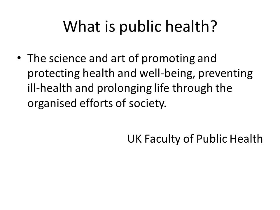 What is public health.
