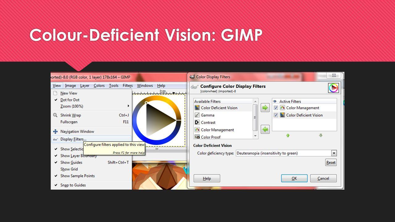 Colour-Deficient Vision: GIMP